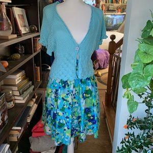 Old navy tie waist floral skirt